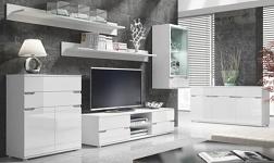 Sektorový nábytek Adonis bílý lesk
