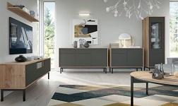Sektorový nábytek Bergen dub jaskson hickory a grafit