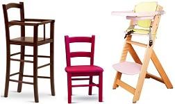 Dětské židle, rostoucí a krmící židle
