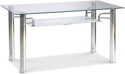 Skleněné jídelní stoly