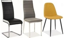 Jídelní židle s kovovou podnoží