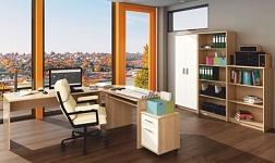 Kancelářský nábytek Johan dub sonoma a bílá