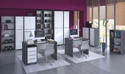 Kancelářský nábytek Rioma grafit a bílá