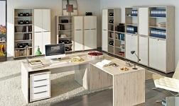 Kancelářský nábytek Rioma dub san remo a bílá