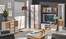 Sektorový nábytek Knox ořech select a bílá