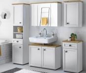 Koupelna Toskana bílá a dub artisan