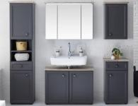 Koupelna Toskana tmavě šedá a dub