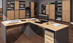 Kancelářský nábytek Rioma grafit a dub artisan