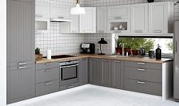 Kuchyně Julia světle a tmavě šedá a bílá