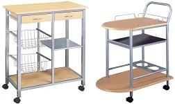Kuchyňské regály a servírovací stolky