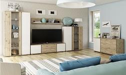 Sektorový nábytek Leira dub wellington a bílá