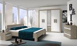 Ložnice Mediolan dub sonoma a bílá