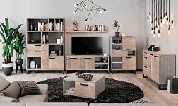 Sektorový nábytek Baria dub pískový a šedá