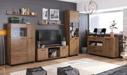 Sektorový nábytek Delis dub bolzano a černá