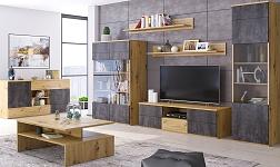 Sektorový nábytek Eridan dub artisan a šedý beton