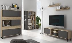 Sektorový nábytek Huron dub sonoma a šedá