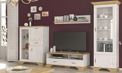 Sektorový nábytek Iris borovice andersen a dub zlatý