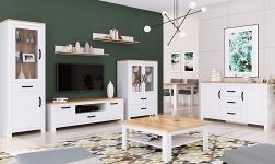 Sektorový nábytek Lanzette bílá alba a dub craft zlatý