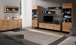 Sektorový nábytek Siran dub lefkas a černá