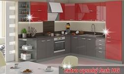 Kuchyně Prado HG vysoký lesk červený