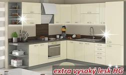 Kuchyně Prado HG vysoký lesk krémový