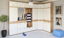 Předsíňový nábytek Cyril dub wotan a bílá