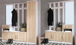 Předsíňový nábytek Mášenka bílá a dub sonoma