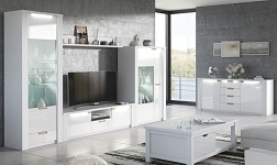 Sektorový nábytek Artek bílá a bílý lesk