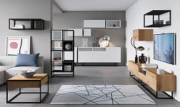 Sektorový nábytek Spring bílá, dub artisan, grafit