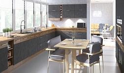 Kuchyně Vega šedá mat a dub lancelot