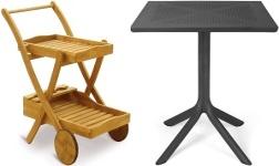 Zahradní stoly a stolky