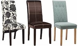 Jídelní židle celočalouněné s dřevěnou podnoží