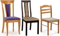 Jídelní židle z kaučukovníku