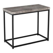 Příruční stolek TENDER kov černý lak, MDF deska, fólie v dezénu beton