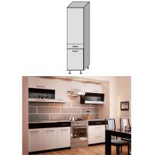Potravinová skříň, bílá / wenge, JURA NEW B S-40