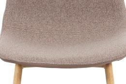 Jídelní židle CT-391 CAP2 látka a ekokůže cappuccino, kov dub