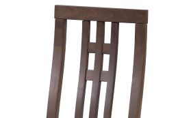 Jídelní židle BC-2482 WAL masiv buk, barva ořech, látka krémová