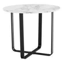 Konferenční stolek, bílý mramor/černý kov, SALINO