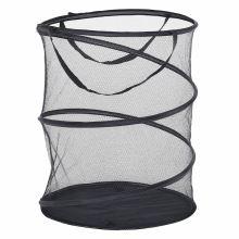 Koš na prádlo nebo na hračky FOREL kov a tmavě šedá síťovina