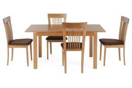 Jídelní židle BC-3940 BUK3 masiv buk, barva buk, látka hnědá, POSLEDNÍ KUS