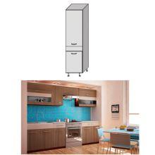 Potravinová skříň, rigolletto dark / rigolletto light / wenge, JURA NEW I S-40
