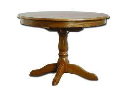Rustikální rozkládací jídelní stůl KAIRO, průměr 110 cm, výška 76 cm