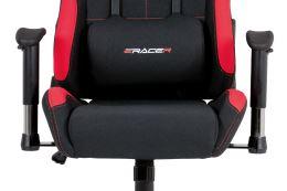 Kancelářská židle KA-F02 RED látka černá/červená
