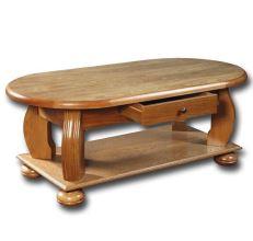 Rustikální konferenční stolek 8925 dub rustikál, 120x60 cm