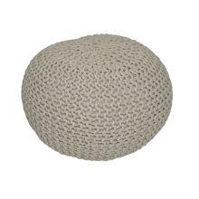 Pletený taburet GOBI 1 bavlna hnědo-šedá