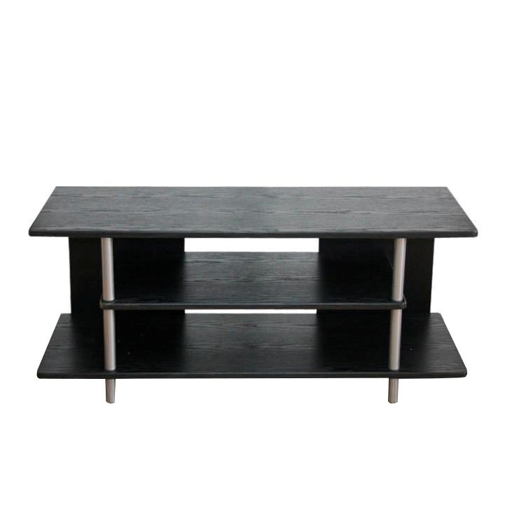 TV stolek QUIDO černá/stříbrná