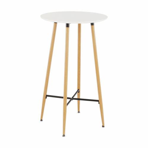 Barový stůl IMAM bílá a dub