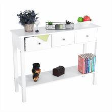 Konzolový stolek NITRO MDF barva bílá