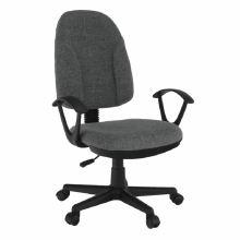 Dětská kancelářská židle, šedá látka, DEVRI