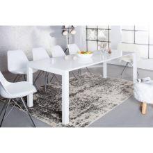 Jídelní stůl ASPER rozkládací 140-180x80 cm, HG vysoký lesk bílý